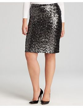savita-sequin-pencil-skirt by bb-dakota-plus