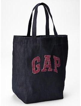 logo-denim-tote by gap