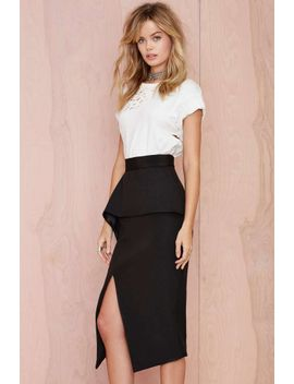 nana-judy-slit-up-peplum-skirt by nasty-gal