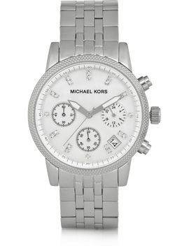 ritz-crystal-embellished-stainless-steel-watch by michael-kors