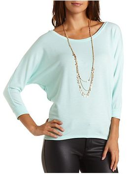 french-terry-dolman-sleeve-tee by charlotte-russe