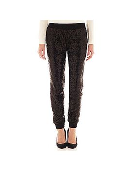 i-heart-ronson®-sequin-soft-pants by i-heart-ronson