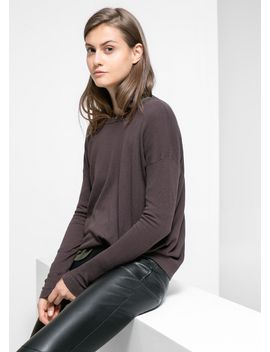 dropped-seam-sweater by mango