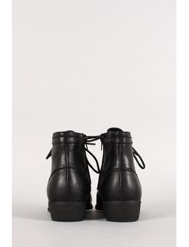 lace-up-pointy-toe-bootie by urbanog