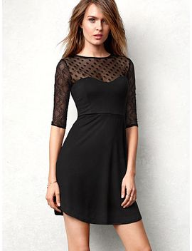 lace-trim-sweetheart-dress by victorias-secret