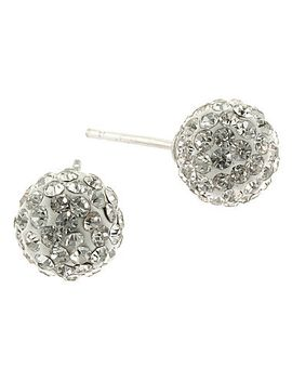 clear-crystal-ball-stud-earrings by general