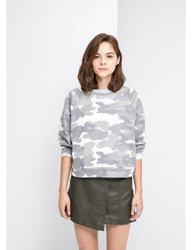 camo-print-sweatshirt by mango