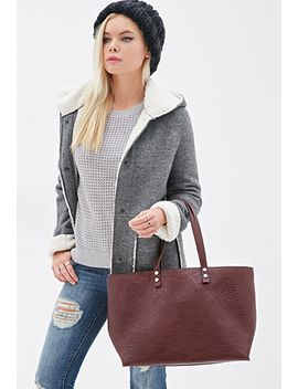 pebbled-faux-leather-tote by forever-21