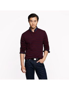 merino-sweater-in-heather-cranberry-stripe by jcrew