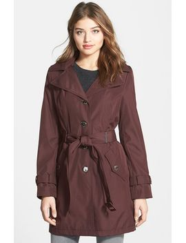 single-breasted-trench-coat-with-detachable-hood by calvin-klein