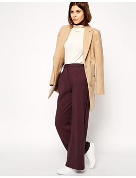 asos-wide-leg-pants-with-piping by asos-collection