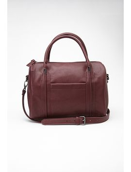 round-faux-leather-satchel by forever-21