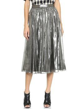 lizzie-metallic-skirt by alice-+-olivia