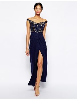virgos-lounge-greta-off-shoulder-maxi-dress-with-embellished-bodice by virgos-lounge