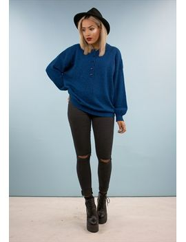 vintage-80s-oversized-blue-jumper-1811nba14 by no-brand-name