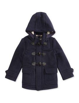 boys-wool-hooded-coat,-true-navy,-4y-10y by burberry