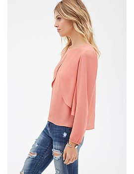 layered-split-front-blouse by forever-21
