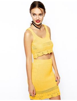 asos-co-ord-crochet-top by asos-collection