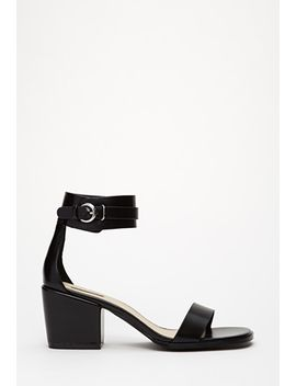 faux-leather-ankle-cuff-sandals by forever-21