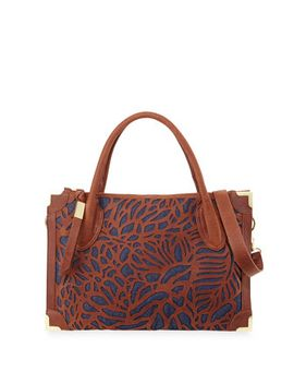 botanica-cutout-leather-satchel-bag,-brandy_blue by foley-+-corinna