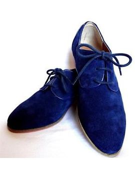 dv-dolce-vita-mini-loafer-navy-suede-flats-shoes-lace-up-blue-orange-oxford-new by dolce-vita