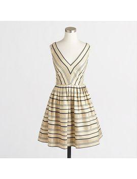 v-neck-flare-dress by jcrew