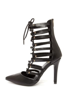speed-limit-98-slope-black-lace-up-high-heel-booties by lulus