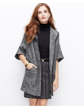 faux-leather-trim-boiled-wool-coat by ann-taylor