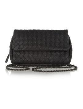 messenger-mini-intrecciato-leather-shoulder-bag by bottega-veneta