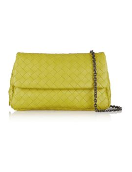 intrecciato-leather-shoulder-bag by bottega-veneta