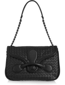 rialto-medium-intrecciato-leather-shoulder-bag by bottega-veneta