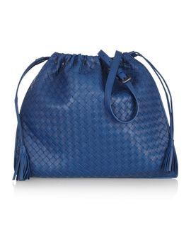 intrecciato-leather-drawstring-shoulder-bag by bottega-veneta