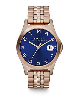 henry-slim-rose-goldtone-stainless-steel-bracelet-watch_dark-blue by marc-by-marc-jacobs