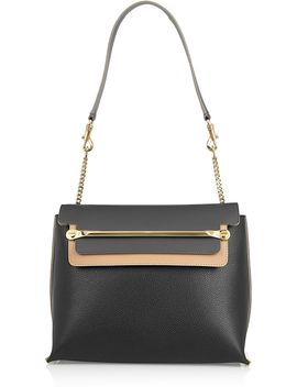clare-medium-textured-leather-shoulder-bag by chloé