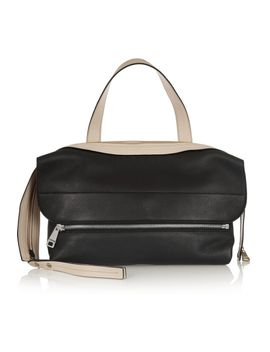 dalston-medium-two-tone-leather-shoulder-bag by chloé
