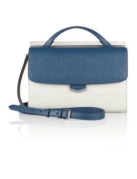 demi-jour-small-color-block-textured-leather-shoulder-bag by fendi