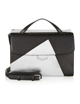 demi-jour-color-block-textured-leather-shoulder-bag by fendi