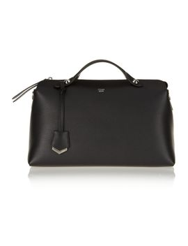 bauletto-textured-leather-tote by fendi