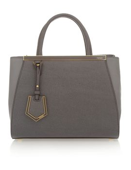 2jours-small-textured-leather-shopper by fendi