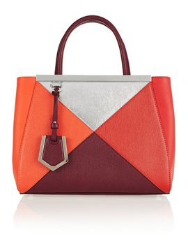 2jours-small-color-block-textured-leather-tote by fendi