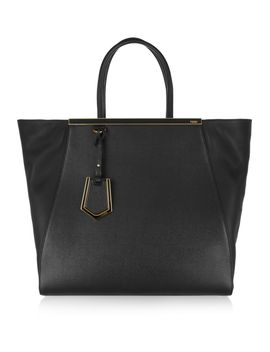 2jours-large-textured-leather-shopper by fendi