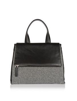 medium-pandora-flap-bag-in-black-leather-and-wool-flannel by givenchy