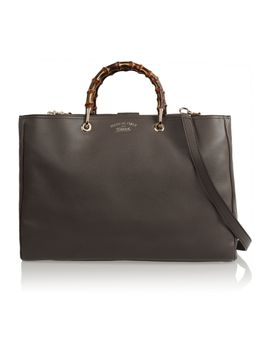bamboo-shopper-large-textured-leather-tote by gucci