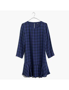 silk-ruffle-hem-dress-in-paint-plaid by madewell