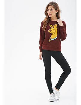 textured-scooby-doo-pullover by forever-21