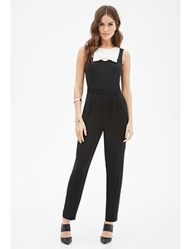 contrast-bow-jumpsuit by forever-21