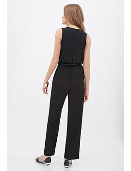 pleated-button-front-jumpsuit by forever-21