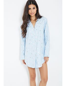 polka-dot-flannel-nightdress by forever-21