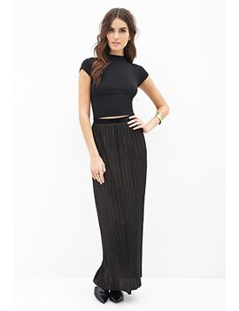 pleated-maxi-skirt by forever-21