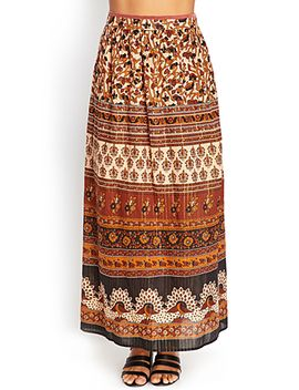 paisley-floral-maxi-skirt by forever-21